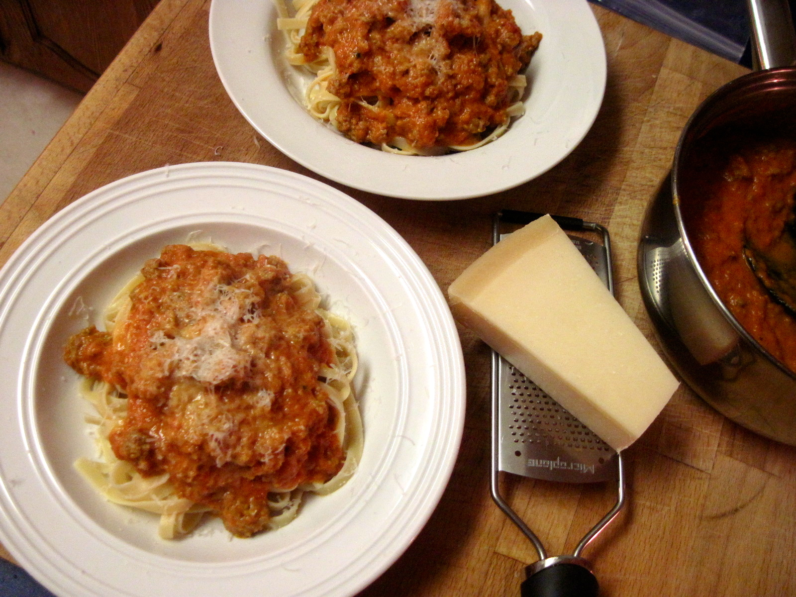 Three-Cheese Tomato Sauce with Sicilian Sausage