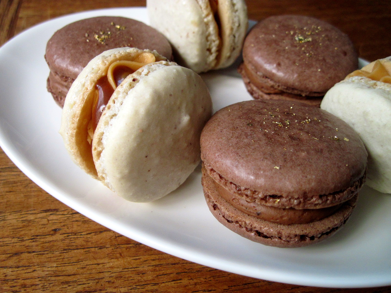 Salted Caramel and Mexican Chocolate Macarons