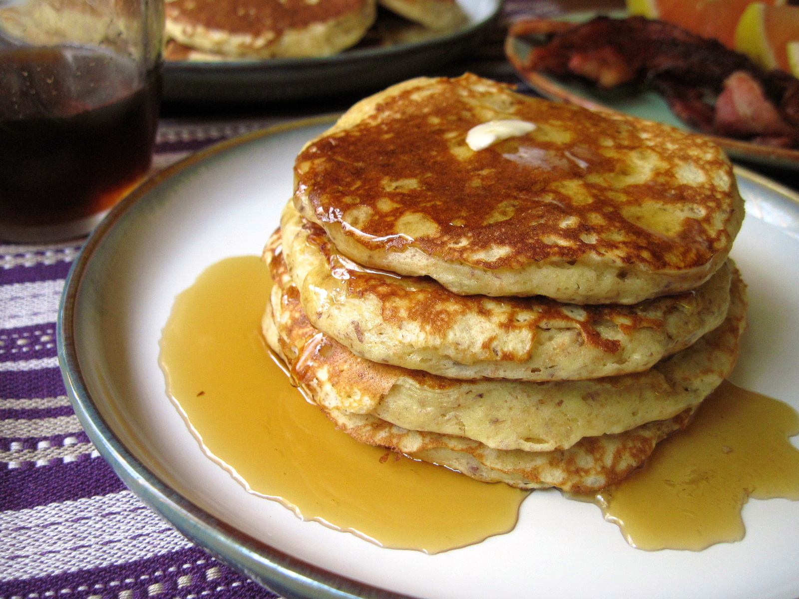 Whole Grain & Flax Buttermilk Pancakes