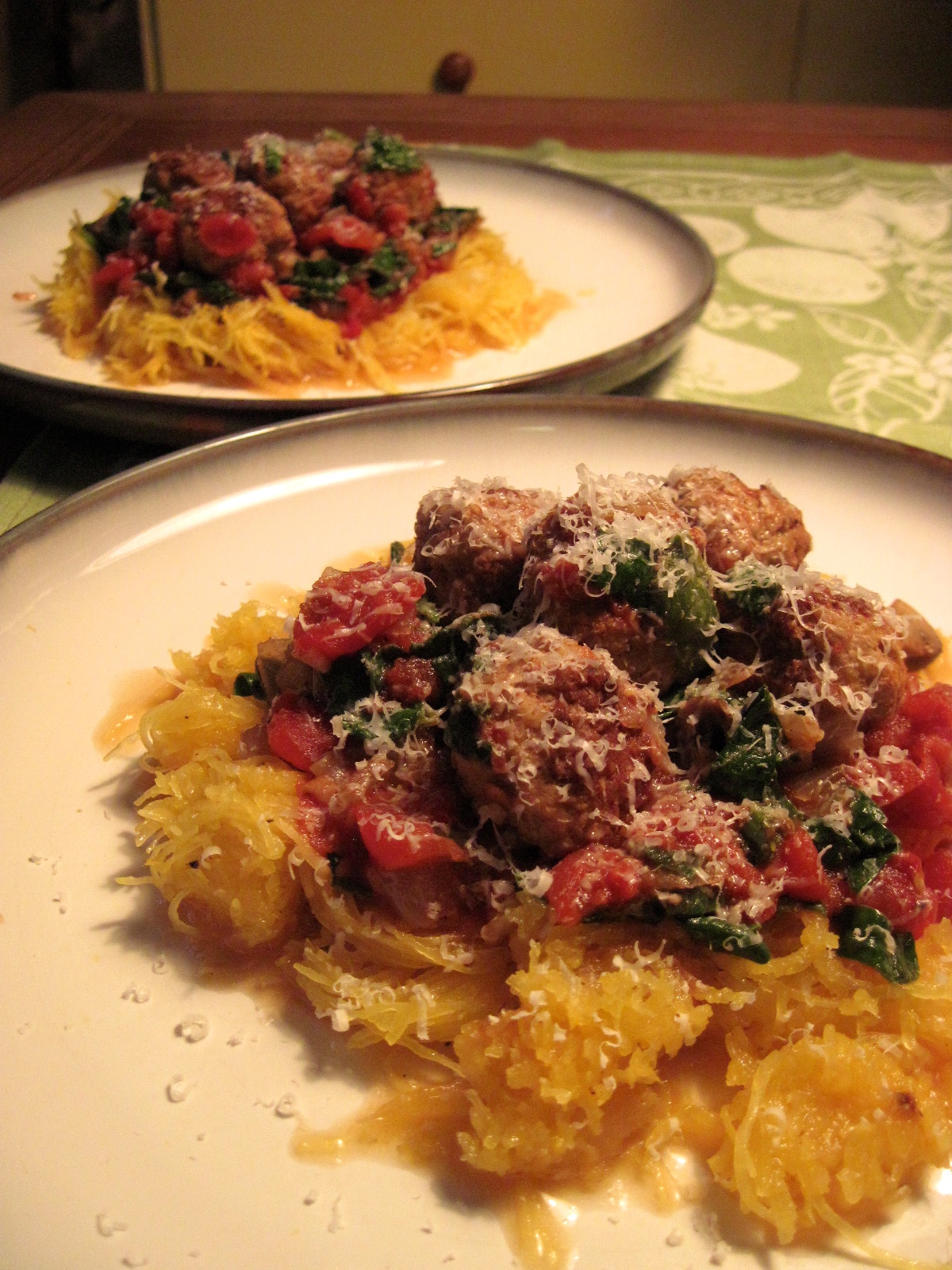 Spaghetti Squash and Meatballs | Korena in the Kitchen