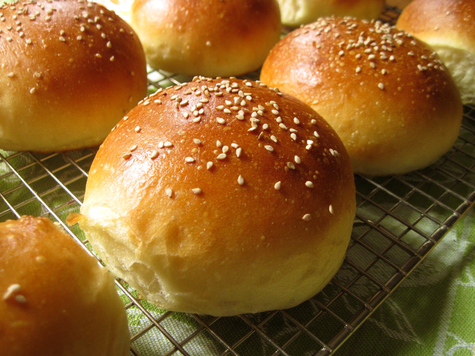 Light Brioche Burger Buns Recipe — Dishmaps