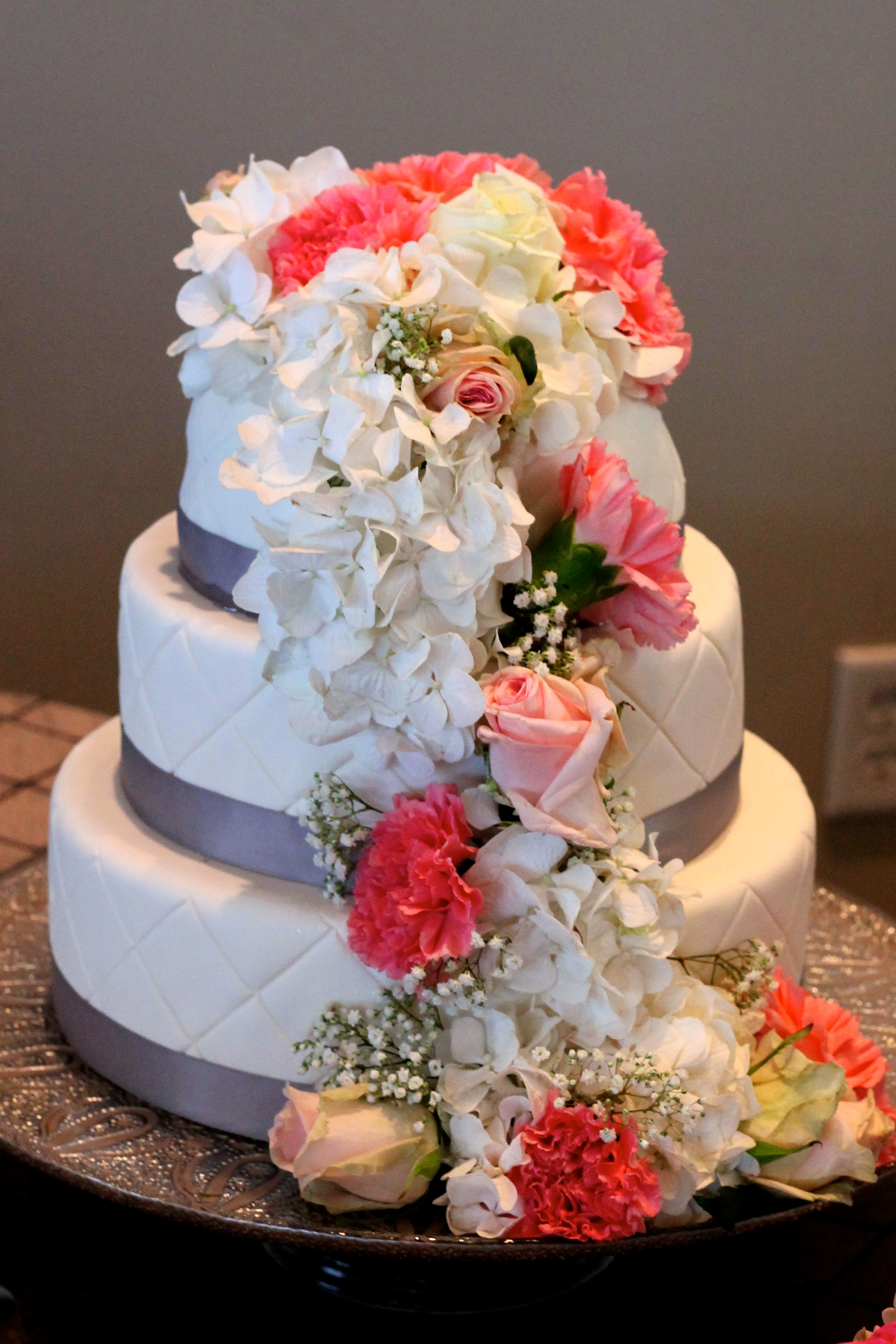 Fondant-Covered Wedding Cake | Korena in the Kitchen