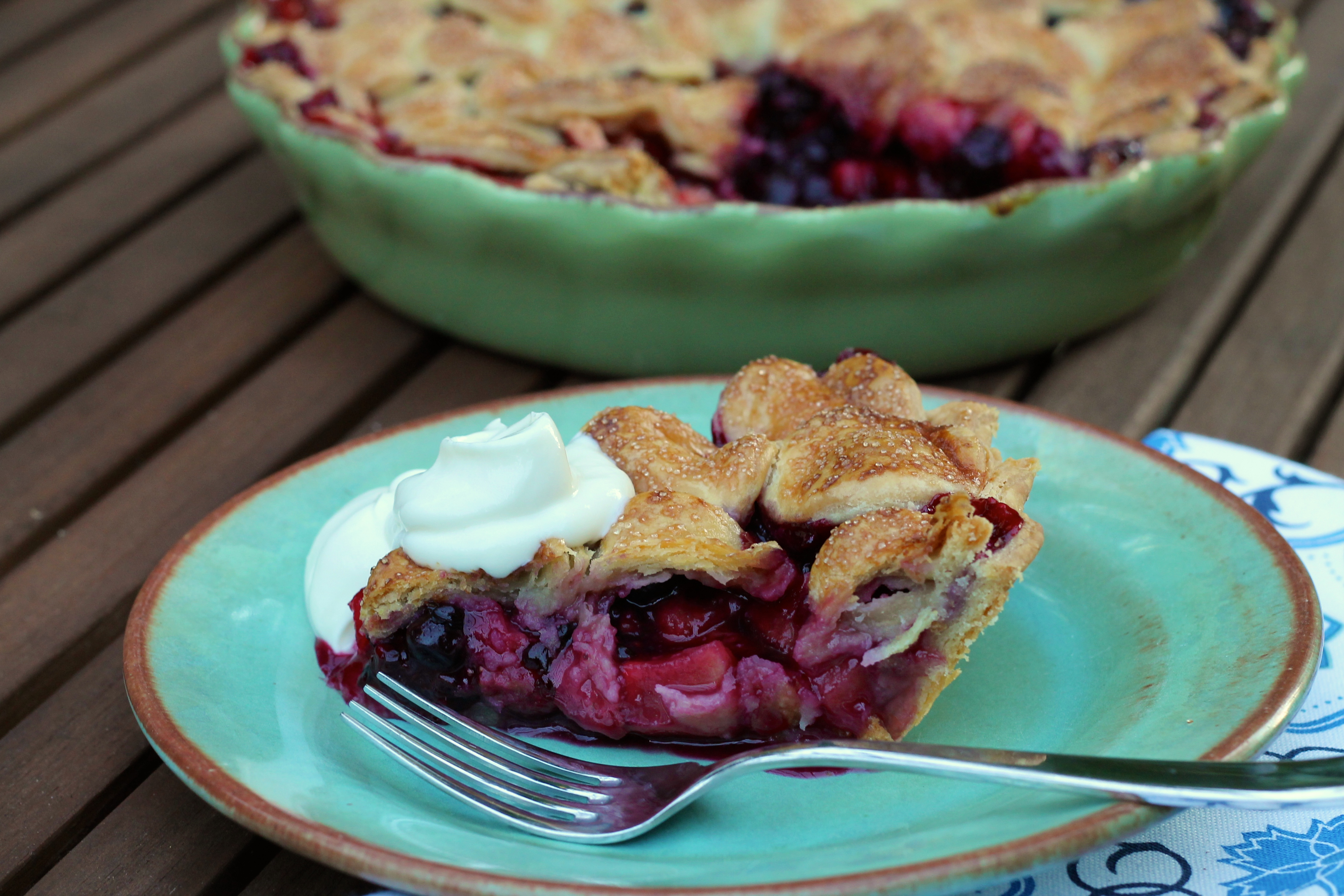 Triple Berry Apple Pie | Korena in the Kitchen