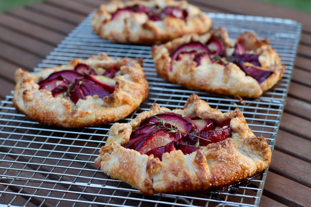 Sourdough Plum and Almond Cream Galettes with Thyme | Korena in the Kitchen