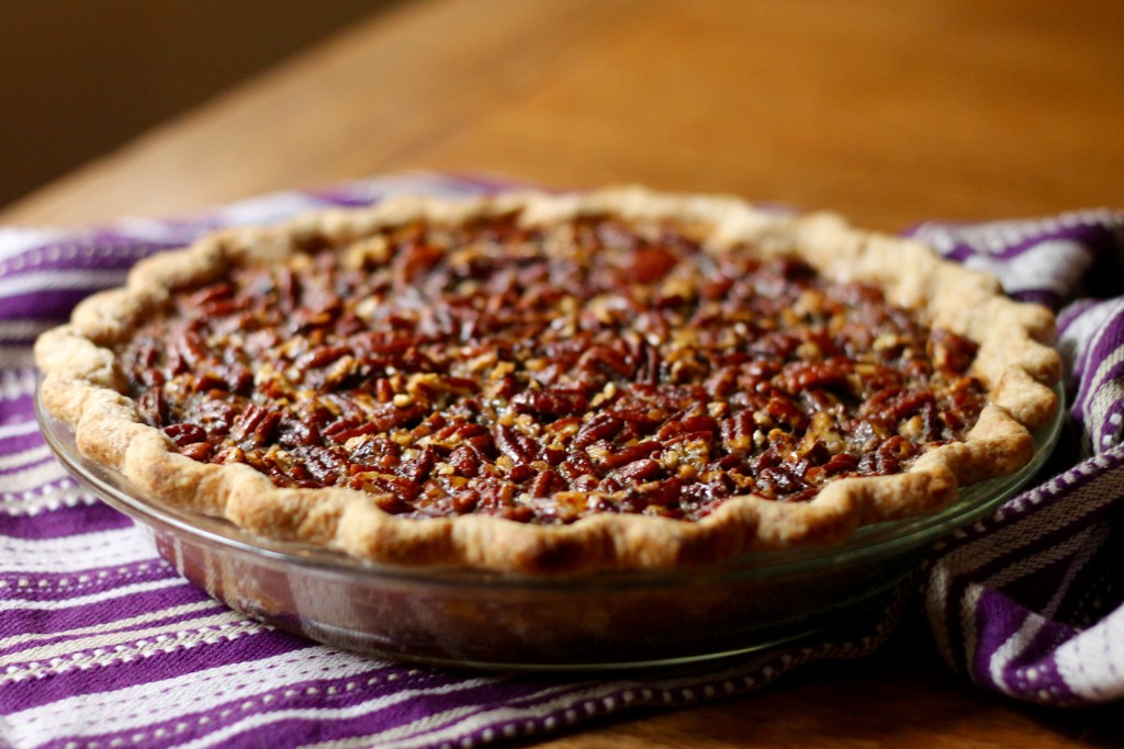 Chocolate-Bottomed Maple Bourbon Pecan Pie | Korena in the Kitchen