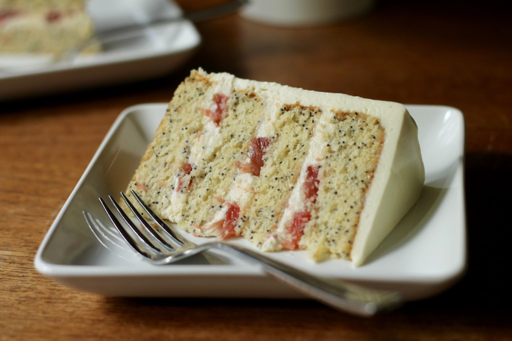 White Chocolate Grapefruit Poppy Seed Cake | Korena in the Kitchen