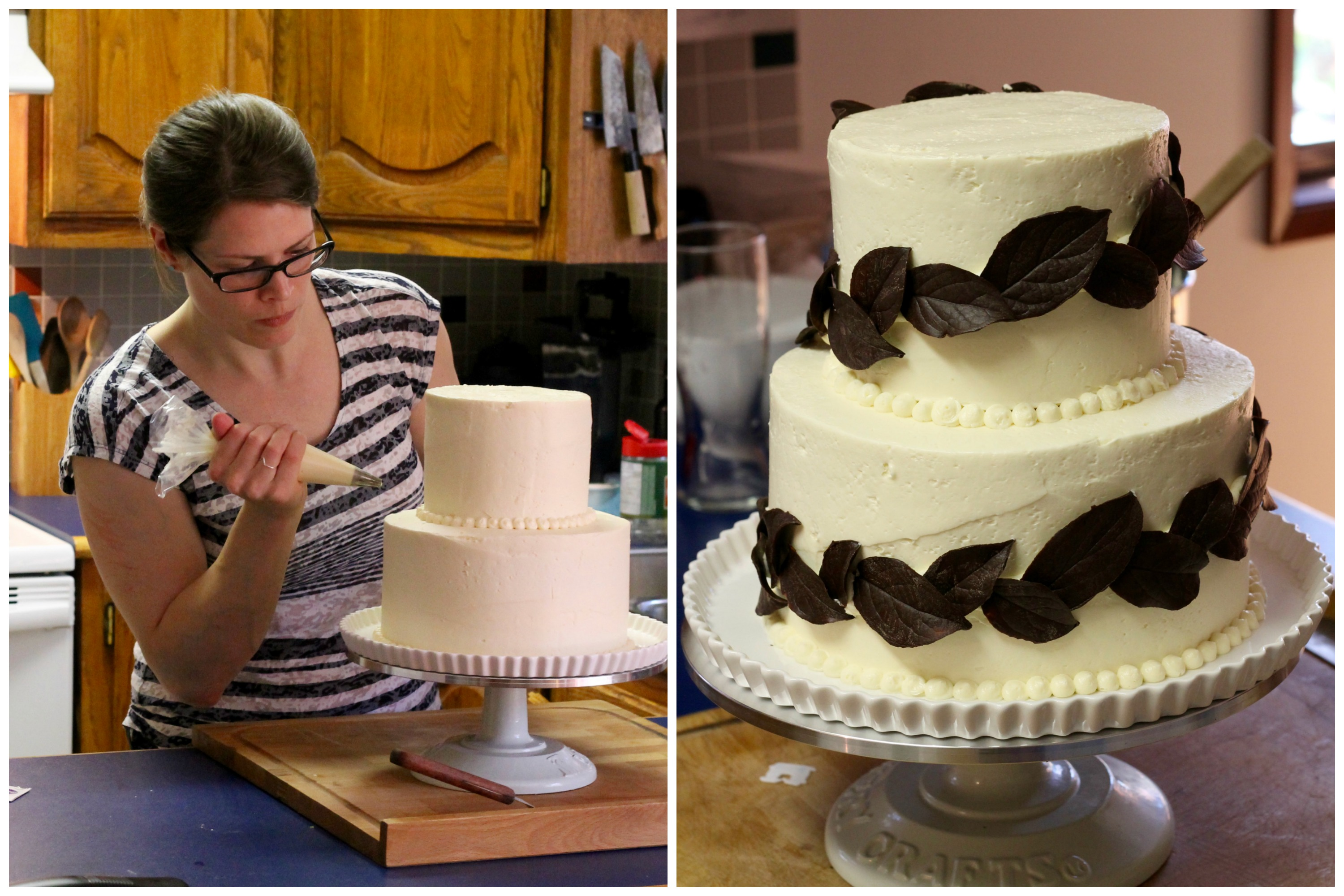 Homemade Cake Decoration Images : Homemade Wedding Cake, Part III: Assembly and Decoration