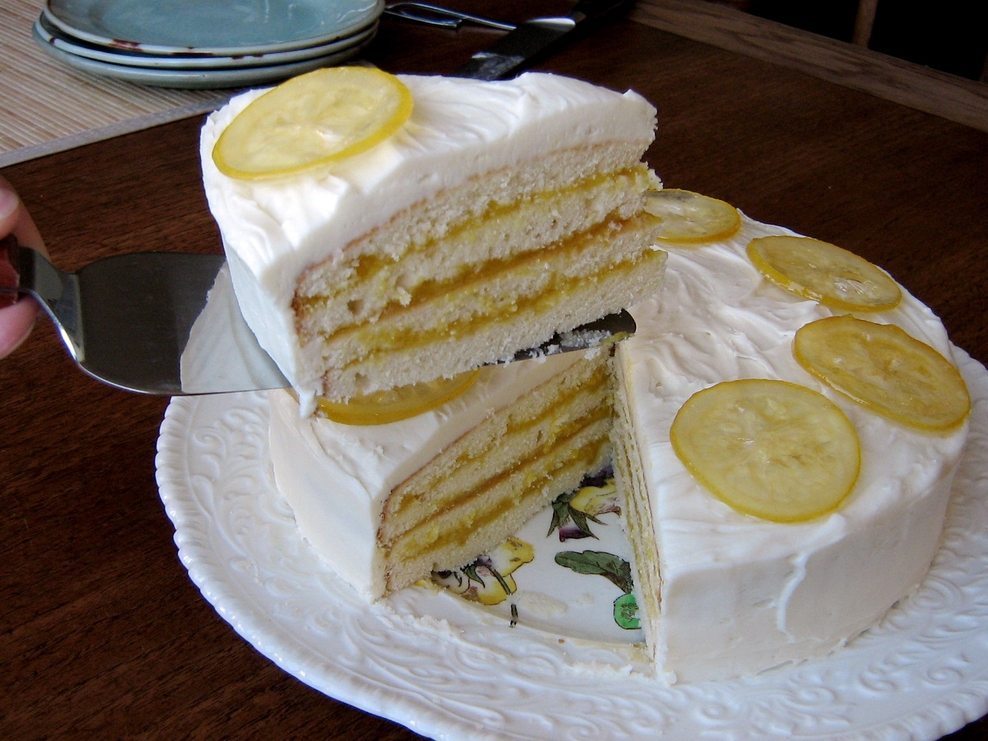 Lemon Tastic Birthday Cake With Lemon Curd Filling And Candied