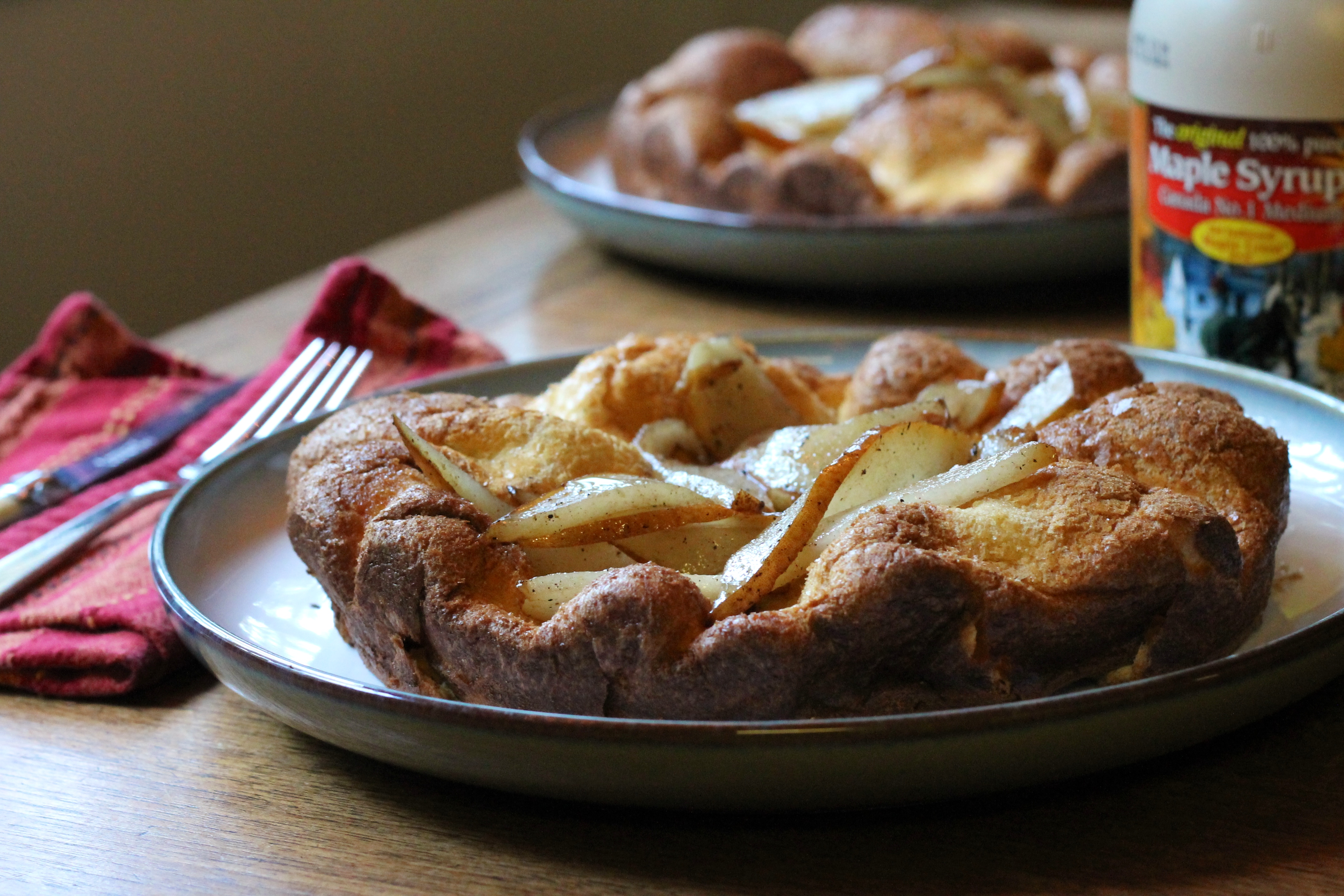 Buckwheat Dutch Baby with Brown Butter Pears
