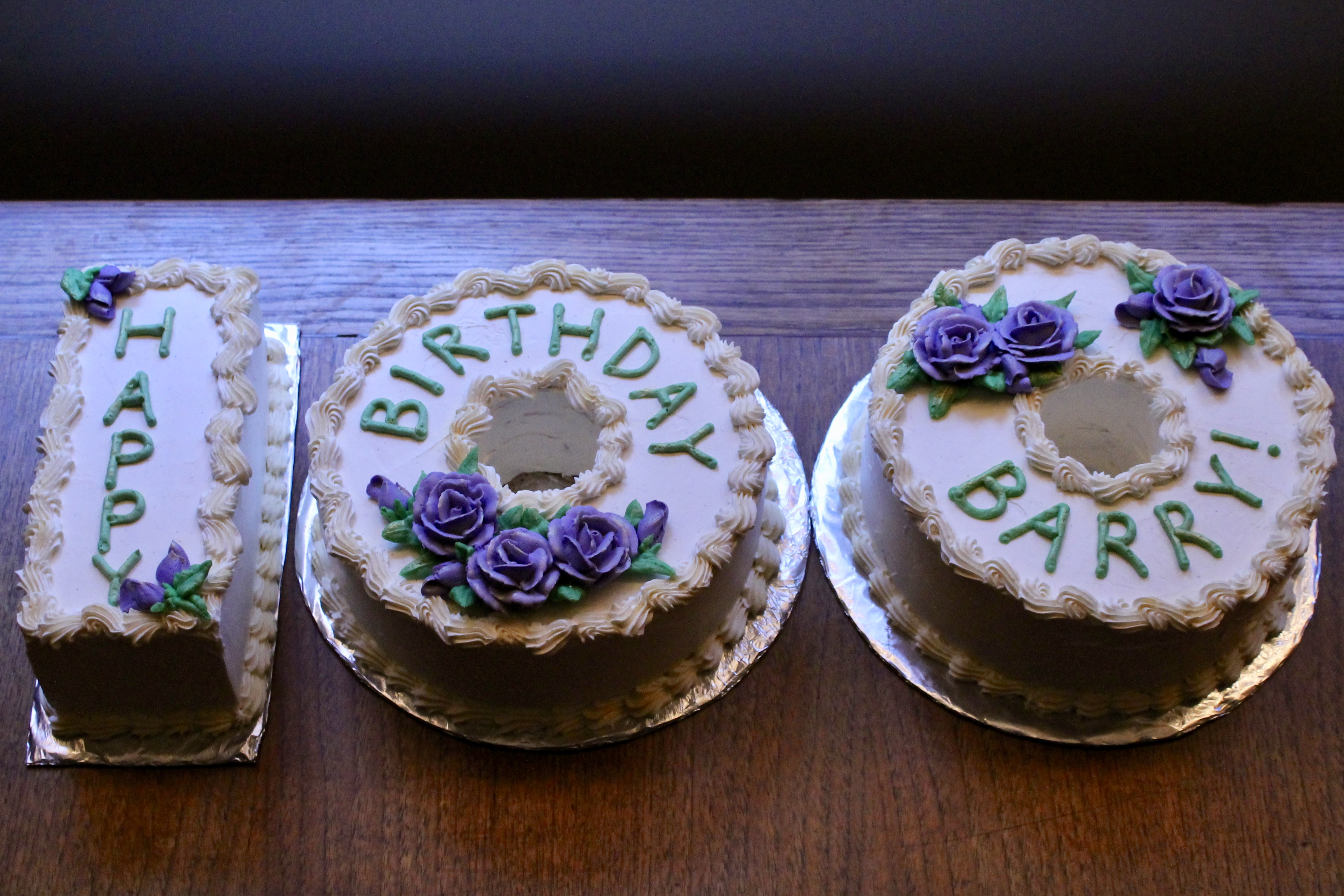 Grandpa S 100th Birthday Cake Chocolate Mocha Layer Cake